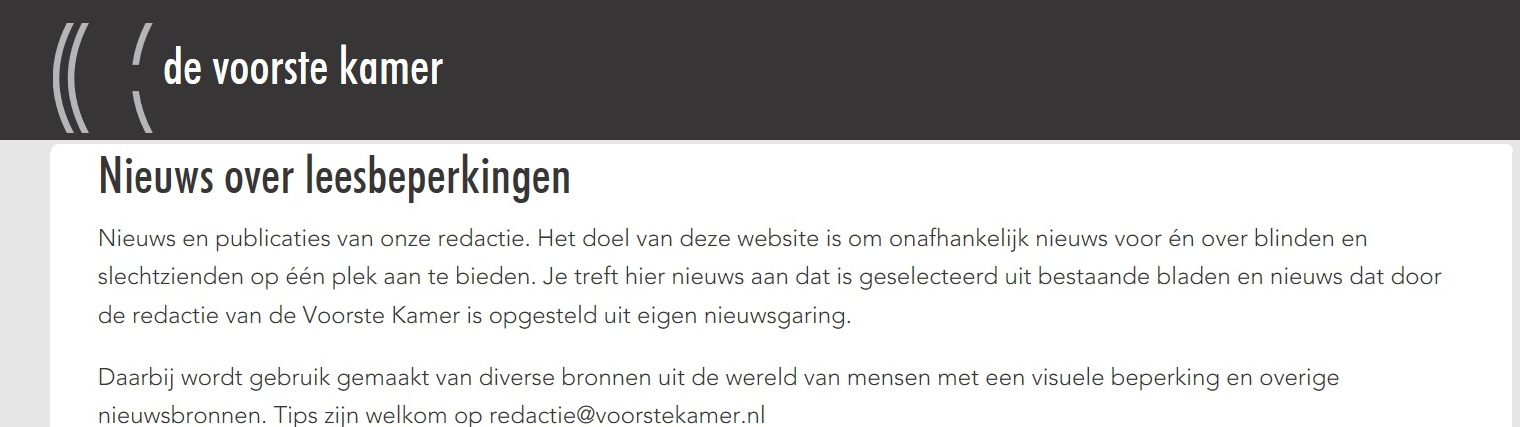 Dutch news Site for VIP's (Dutch Only)