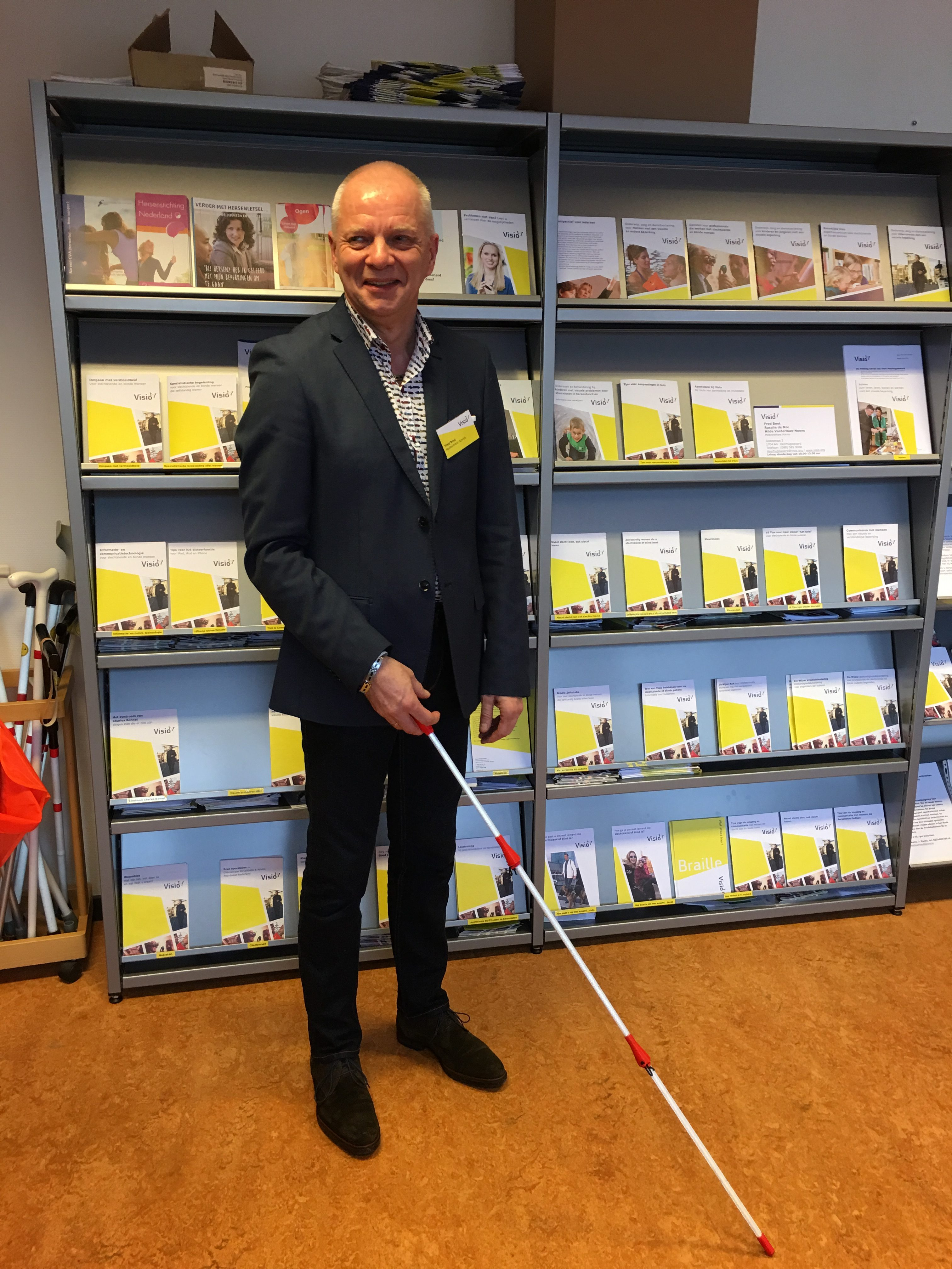 Lightupcane presentation on the open day at the Royal Visio