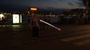 Crossing the street with a LightupCane